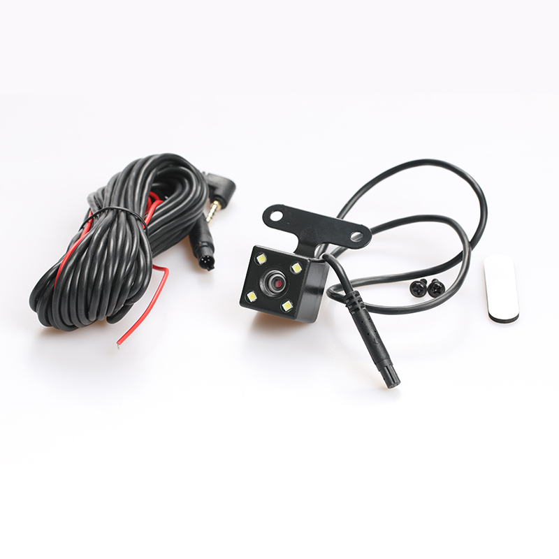 DC 12V 4 Led 5pin Reverse Car Camera Night Vision HD CDD Rear View Camara Lens With 5pin 2.5mm Jack 5.5m Cable