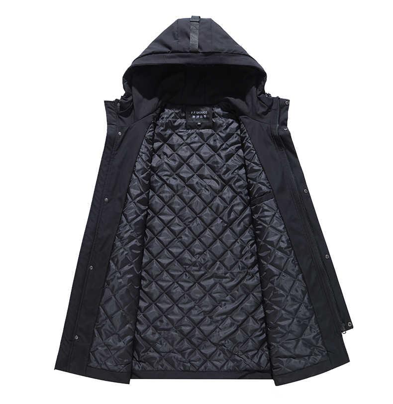 플러스 사이즈 10XL 9XL 8XL 7XL 6XL 블랙 겨울 자켓 남자 두꺼운 파카 캐주얼 자켓 Windproof 따뜻한 겨울 코트 망 후드 양털