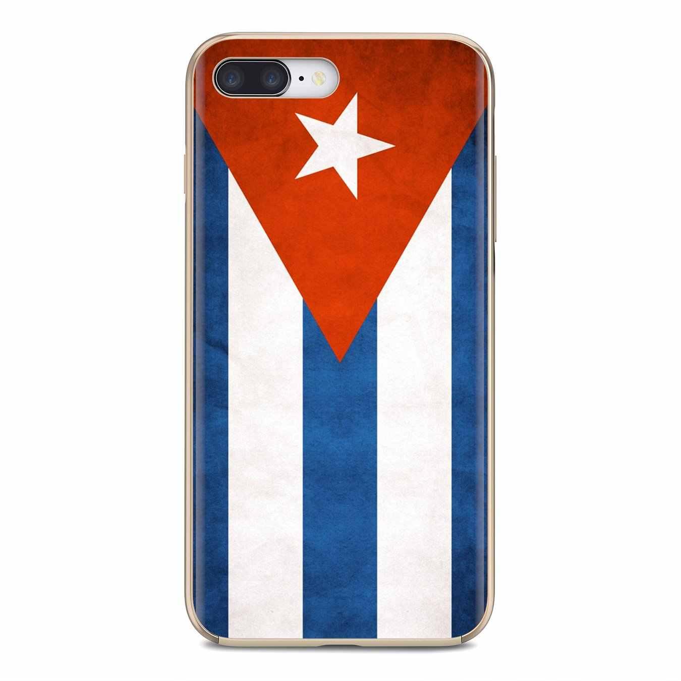 سيليكون الهاتف حالة الكوبية كوبا العلم يطير خط راية ل فون 11 برو 4 4S 5 5S SE 5C 6 6S 7 8 X XR XS زائد ماكس لمسة بود