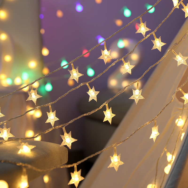 1.5/3/4.5/6/7.5M LED Star Light String Garland Lamp Fairy New Year Christmas Tree Home Novelty BedRoom Salon Wedding Decorations