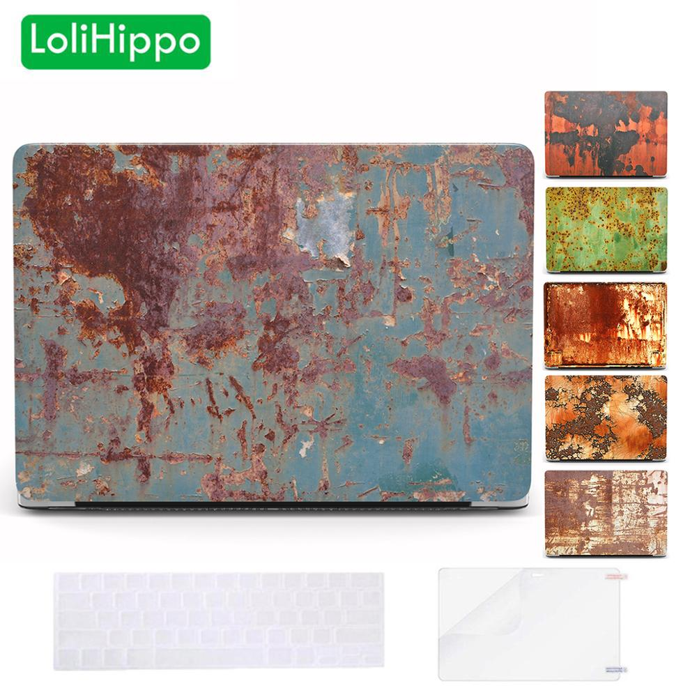 LoliHippo Creative Rusty Series Laptop Protective Hard Case For Macbook New Air Pro 11 13 15 Inch Notebook Cover A1932 A1466