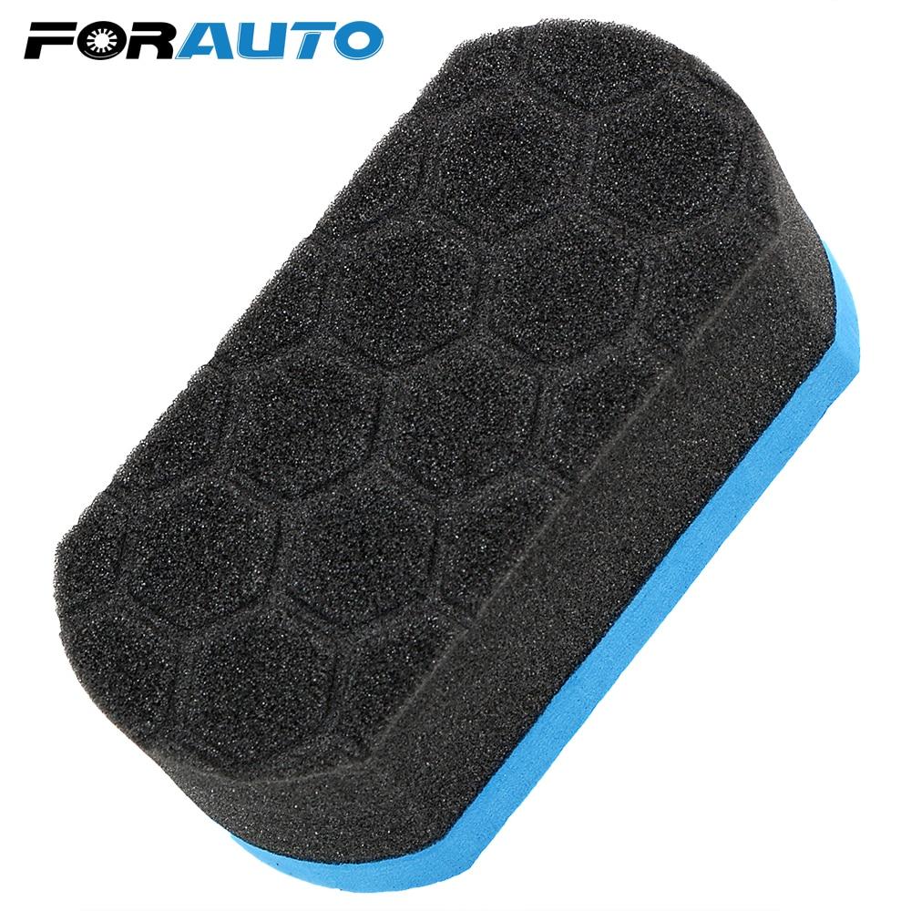 FORAUTO Car Wash Sponge Auto Care Detailing Cleaning Tool Wax Foam Polishing Sponge Soft Hex Waxing Buffing Applicator Pad