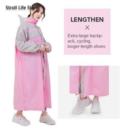 Large Windbreaker Long Raincoat Rain Cover  Men and Women Rain Coat Hiking Motorcycle Bike Rain Poncho Waterproof Suit Gift 1