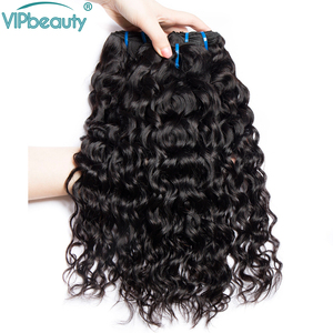 Image 3 - Indian Water Wave Remy Hair Extension Human Hair Weave Bundles Natural Color 1B Can Be Dyed 8   26 28 30 inch 3 4 Bundle Deals
