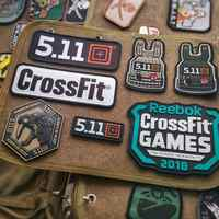 Military Patches CrossFit GAMES Viking 511 Tactical Morale Patch Armband DIY Badges Embroidered PVC Appliques For Clothing