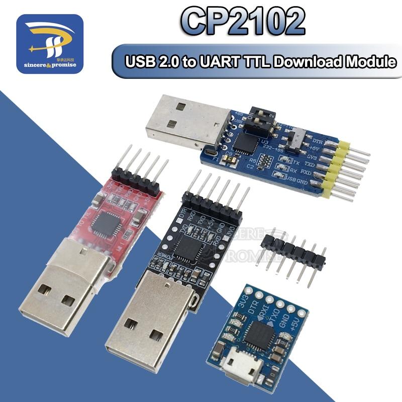 1pc CP2102 Module USB to TTL Serial Converter UART STC Download 5pcs Cables TPI