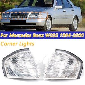 Image 1 - Cooyidom claro sinal de volta lâmpadas led espelho luzes de canto automático para mercedes benz c classe w202 1994 2000 1995 1996 acessórios