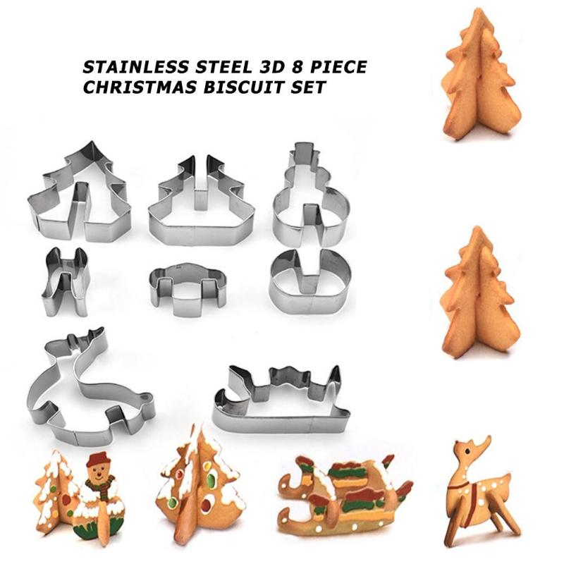 Xmas Theme Elk Christmas Cookie Cutter Baking Tool Cake Mould Biscuit Mold