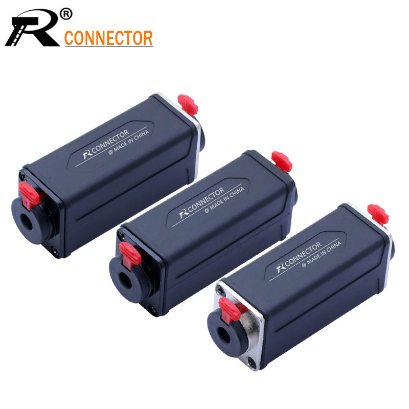 1PC 3PIN XLR/Jack 6.35mm Dual Function Panel Mount Adapter Speaker Connector Extended Straight Adapter
