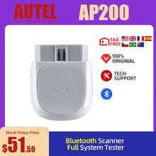 Autel AP200 Bluetooth OBD2 tarayıcı kod okuyucu tam sistemleri teşhis AutoVIN TPMS IMMO hizmeti aile DIYers PK Mk808