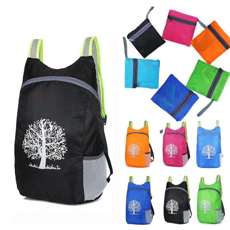 Outdoor Sports Bag Custom Folding Backpack Durable Foldable Lightweight Travel Hiking Backpack Waterproof 30N29