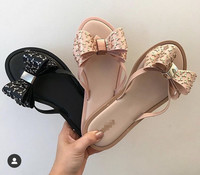 Melissa Bow Jelly Slipper Women Sandals 2020 Fashion Women Jelly Shoes Flip Flop Melissa Adulto Female Lady Shoes Slippers