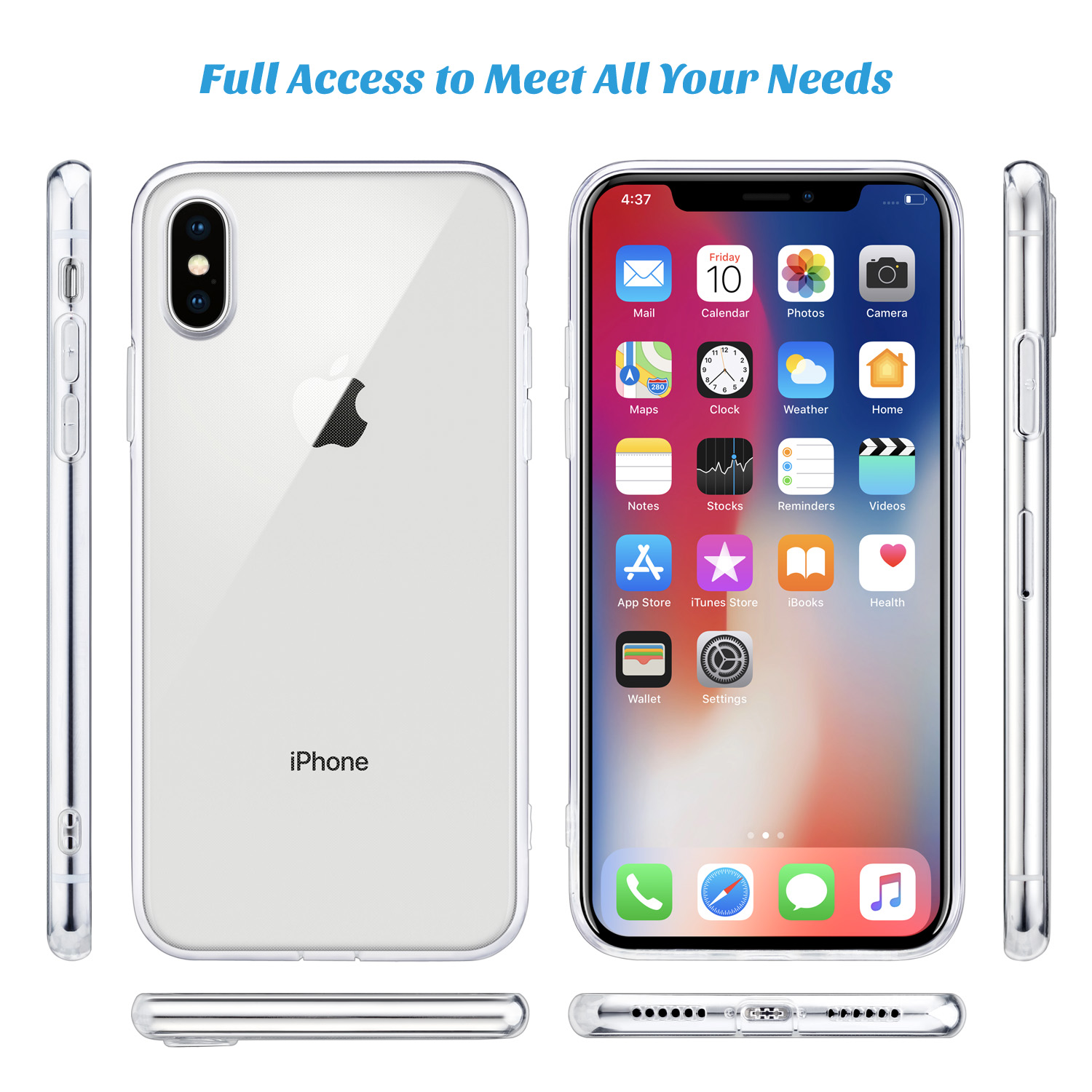 "H0cb9fa06059b4dfb90570ced8035b10fL - For iPhone X Case, WEFOR Slim Clear Soft TPU Cover Support Wireless Charging for Apple 5.8"" iPhone X /iPhone 10"