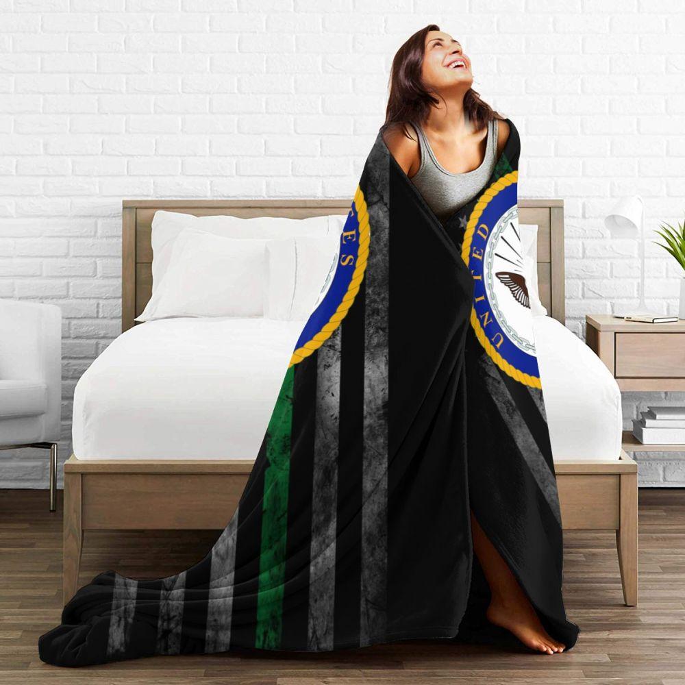 US Navy Department Seal Ultra Soft Cozy Throw Lightweight Micro Flannel Fleece Sofa All Season Living Room/Bedroom Warm Blanket-4