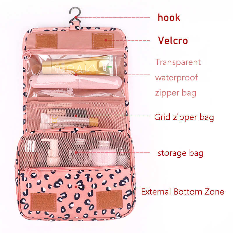 Fashion Multi-Function Travel Cosmetic Bag Waterproof Toiletries Storage Bag Cosmetics Storage Travel Kit Ladies Beauty Bag