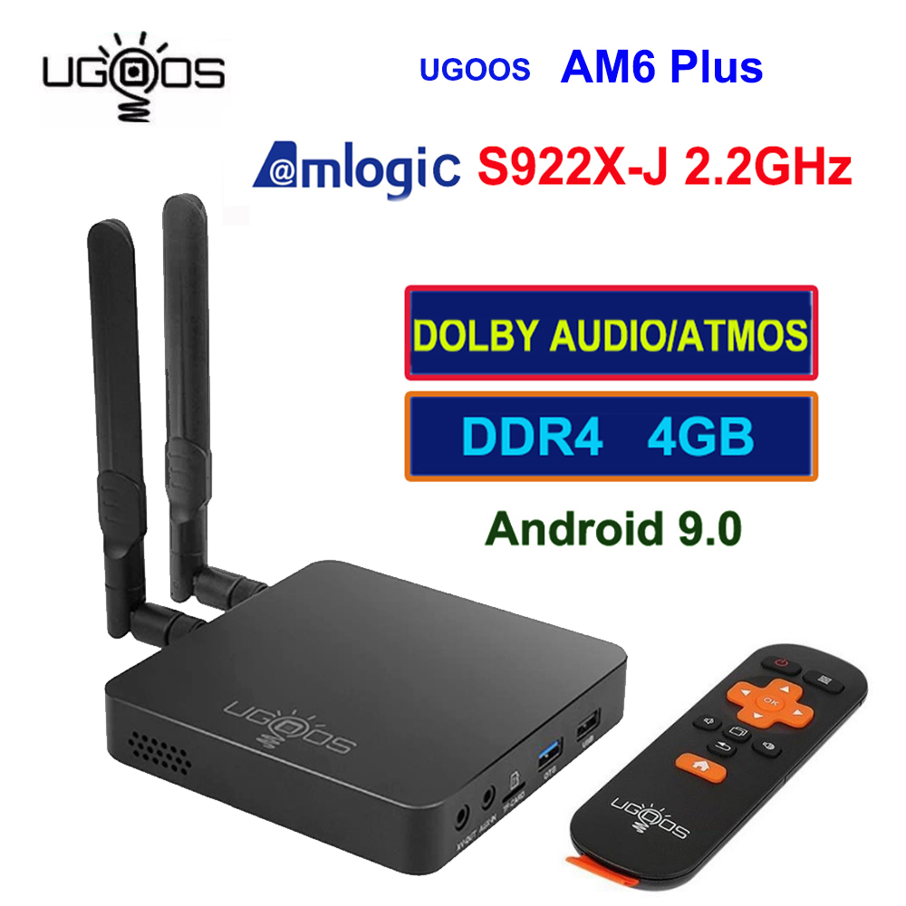 UGOOS AM6 Plus Amlogic S922X-J Set  Android 9.0 Tv Box 4GB DDR4 32GB 2.4G 5G Wifi 1000M BT5.0 4K Media Player For Dolby Atmos