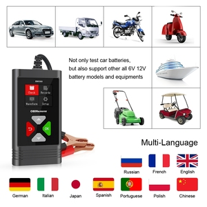 Image 3 - BM560 6V 12V Car Battery Tester Analyzer 100 2000 CCA 2 220AH Cranking/Capacity Test Automotive Charge Check PK KW600 KW650