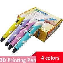 3D ручка для детей, ручка для 3D печати «сделай сам» со светодиодный ным экраном, 50 м пла-нить, креативная игрушка, подарок для детей, дизайн, ри...