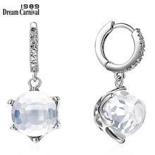 DreamCarnival1989 Hot Selling Special Cut Zircon Drop Earrings for Woman Clear White Dazzling CZ Elegant Wedding Jewelry WE3819W