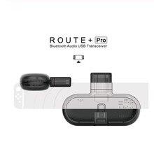 Gulikit Adaptador de Audio Route + Pro con Bluetooth, transceptor inalámbrico, adaptador USB C para Nintendo Switch, Soporte para PC, Chat de voz en el juego