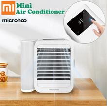 Najnowszy Xiaomi Microhoo 3 w 1 Mini klimatyzator wentylator wody ekran dotykowy rozrządu Artic Cooler nawilżacz bezłopatkowy wentylator tanie tanio NONE CN (pochodzenie) Portable air conditioner fan Gotowa do działania WEJŚCIE 2 KANAŁY Mini Air Conditioner Water Cooling Fan