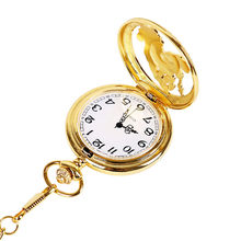 Fashion 37cm Fob Chain Smooth Steel Quartz Pocket Watch Vintage Roman Nmber Dial Pendant Fob Watch Gifts Clock Часы Мужские(China)