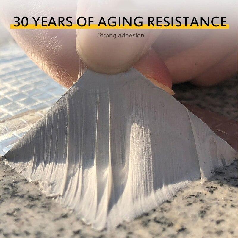 Суперводостойкая лента, герметик, алюминиевый клей для фольги, водонепроницаемая герметизация, самоклеящаяся цветная стальная лента для г...