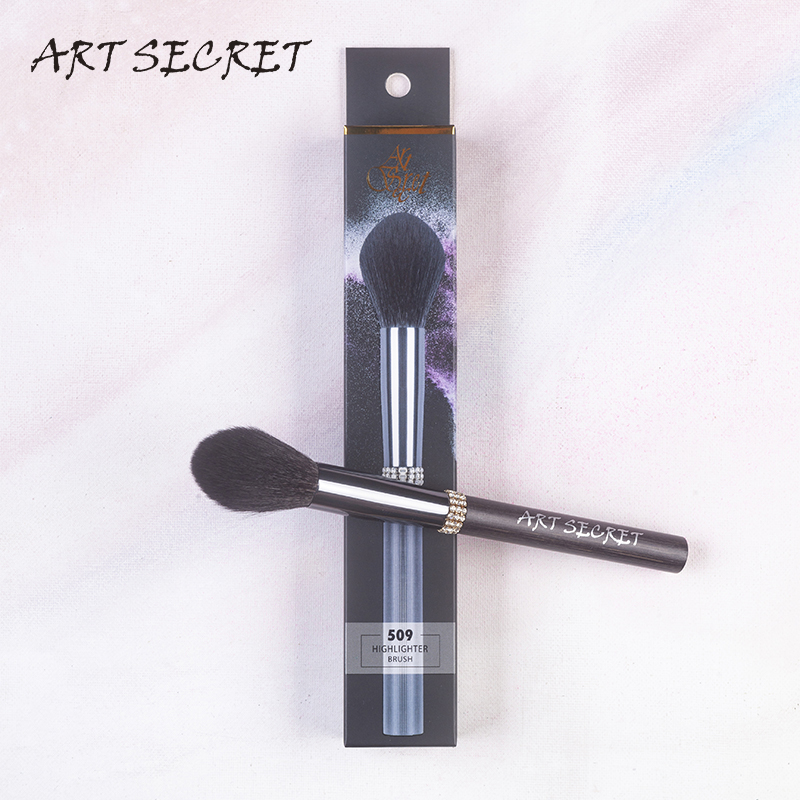 arte secreta 509 pro escova de maquiagem cosmetica escova highlighter com esquilo cabelo mix cabra arma
