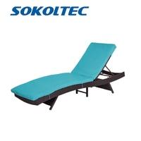 SOKOLTEC outdoor leisure patio chair beach chair adjustable deck chair zero gravity office nap chair folding bed