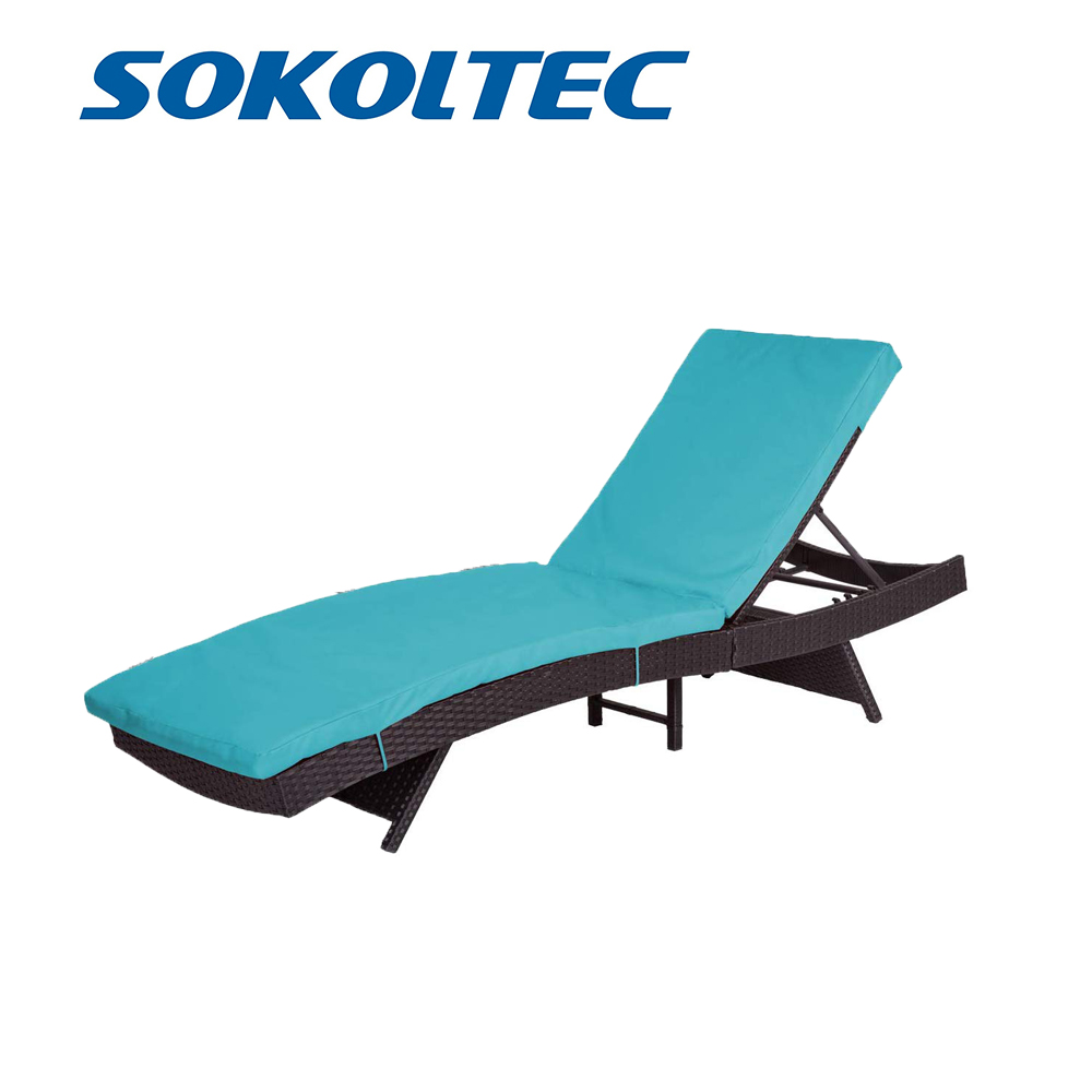SOKOLTEC Outdoor Leisure Patio Chair Beach Chair Adjustable Deck Chair Zero Gravity Office Nap Chair Folding Bed