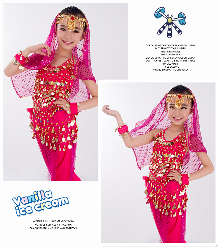 H0cbac84657664311a1c48075fbd90431C - Kids Belly Dance Costumes Set Oriental Dance Girls Belly Dancing India Belly Dance Clothes Bellydance Child Kids Indian 6 Colors