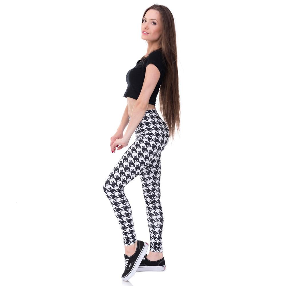 Brands Women Fashion Legging Aztec Round Ombre Printing leggins Slim High Waist  Leggings Woman Pants 69
