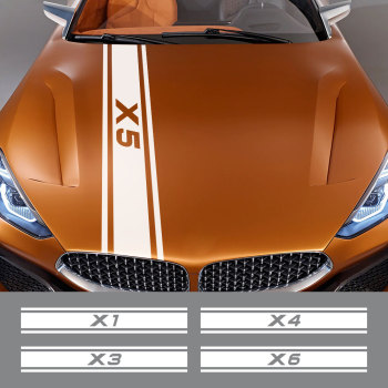Car Hood Stickers Bonnet Vinyl Film Decal For BMW X5 E53 E70 F15 G05 X1 F48 X3 F25 X6 E71 X2 F39 X4 F26 X7 G07 Auto Accessories image