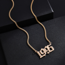 Year Number Necklaces for Women Custom Year 1995  Birthday Gift Statement Necklace Long Statement Necklace