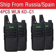 4 pièces Radio Portable WLN KD C1 Mini Wiress talkie walkie UHF Portable Radio bidirectionnelle communicateur émetteur récepteur talkie walkie
