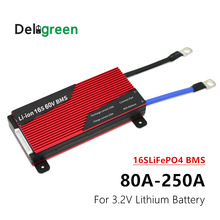 16S 80A 100A 120A 200A 250A PCM/PCB/BMS for Lithium Battery 3.2V LifePO4 Battery Li ion BMS for Electric Bicycle and Scooter