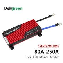 16S 80A 100A 120A 200A 250A PCM/PCB/BMS için lityum pil 3.2V LifePO4 pil Li ion elektrikli bisiklet için BMS ve Scooter