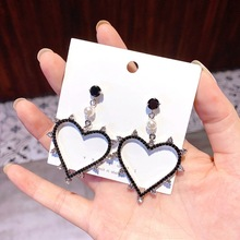 trendy crystal drop women dangle earrings  fringed pearl bohemian jewelry