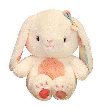New 25/30/40cm Kawaii Cartoon Rabbit Plush Toy Long Ears Bunny Doll Soft Stuffed Animal Doll Kids Girls Birthday Christmas Gift 38cm luxury mogo bunny doll easter gift soft toys 100% handmade stuffed animal ballerina bunny doll princess bunny doll