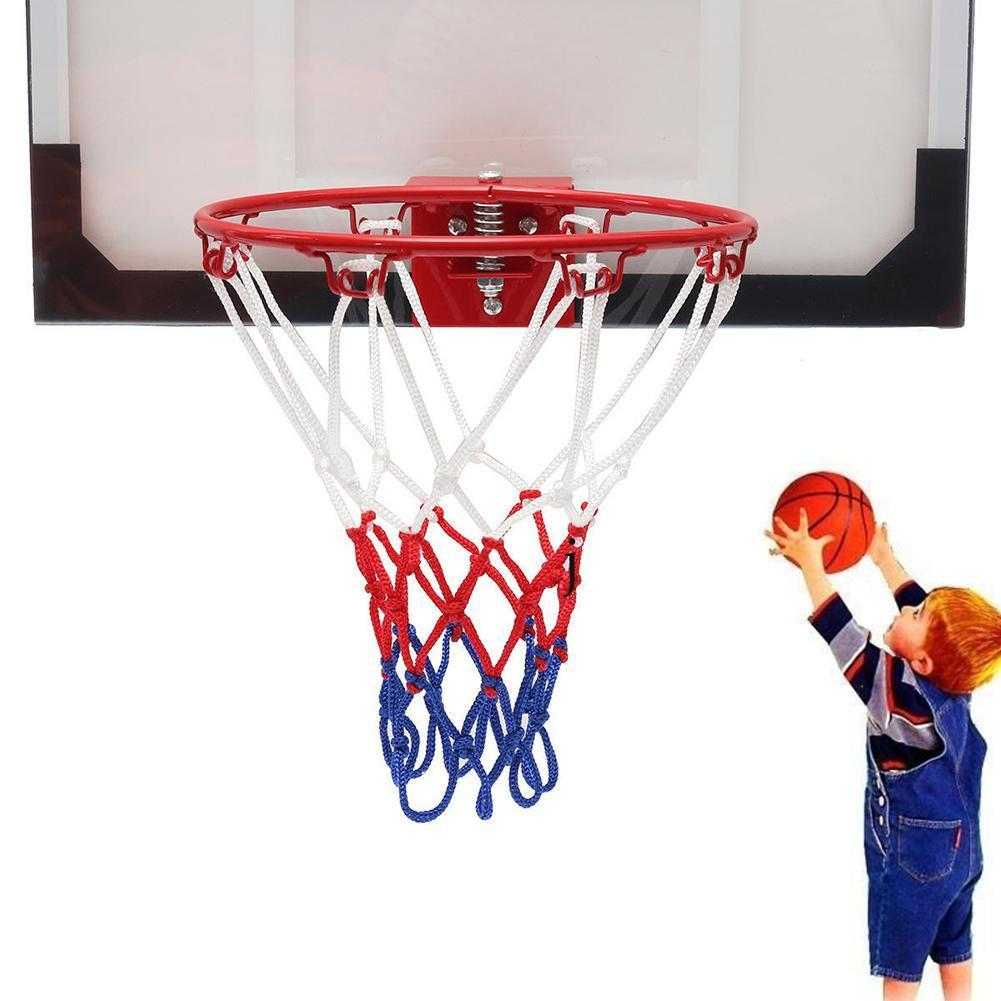 1 Set Hanging Basketball Wall Mounted Goal Hoop Rim Sports Indoor&outdoor Net Netting D2X0