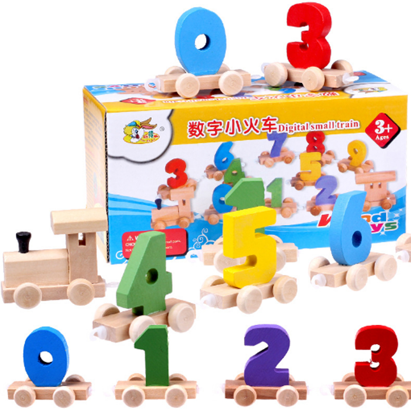 Learning Education Toys Wooden Digital Train Montessori Math Toys Game For Children Girls Countable Material Brinquedos