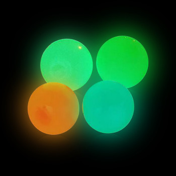 45mm Luminous Sticky Balls Stress Reliever Toy Sticky Wall Ball Decompression Toys Kids Christmas Gift 2pcs Juguetes luminosos image