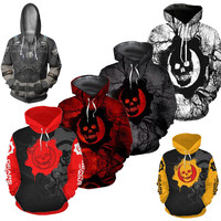 Game Gears War Marcus Fenix 3D Costume Men Women Hoodie Jackets Cosplay Hoodie Jumper Sweatshirts MenSports Jacket Hip Hop