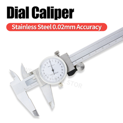 Dial Caliper Metal Vernier Caliper With Dial Indicator Stainless Steel Gauge Measuring Tools Micrometer Pied A Coulisse 0-150mm
