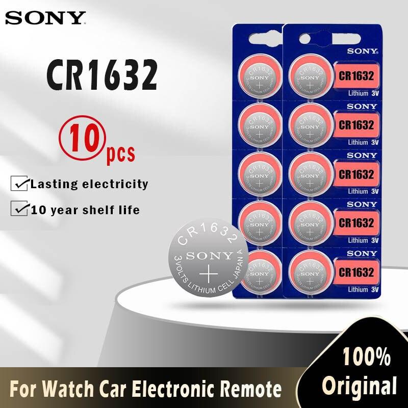10 шт. Sony 100% оригинальный CR1632 литиевая батарея для часов Автомобильный ключ дистанционного управления Comtrol cr 1632 ECR1632 GPCR1632 3v Кнопка монета ячей...