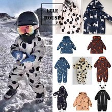 spot lelehouse-TC Toddler Girl Winter Clothes Windproof Waterproof Hooded Boys Snowsuit Coats Winter Kids Down Coat with Hood(China)
