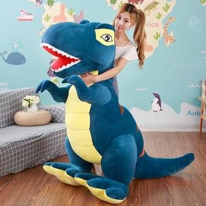 Image 4 - 60 センチメートル/90 センチメートル漫画の恐竜ぬいぐるみ趣味巨大なティラノサウルスレックスぬいぐるみ人形ぬいぐるみのおもちゃ子供男の子クラシックのおもちゃ