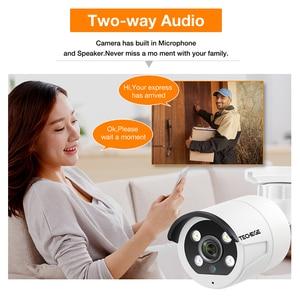 Image 5 - Techege HD 1080P 4CH ビデオカメラシステム双方向オーディオ 2MP 防水 IP カメラヒューマノイド検出 4CH 1080 1080P POE NVR CCTV キット