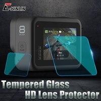 Vidrio templado para GoPro HERO9 HERO8 negro HERO5 HERO6 HERO7 Silver White Hero 5 6 7 8 9 película de lente de la cámara del Protector de pantalla LCD