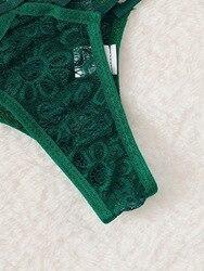 Сексуальный женский бюстгальтер большого размера, бюстгальтер пуш-ап, бандажный кружевной комплект нижнего белья, бандаж для пижамы, компл... 6